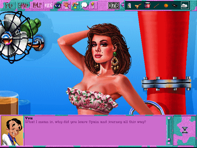 Leisure Suit Larry 6: Shape Up or Slip Out! Windows 3.x Rose is originally from Spain... (CD-ROM version)