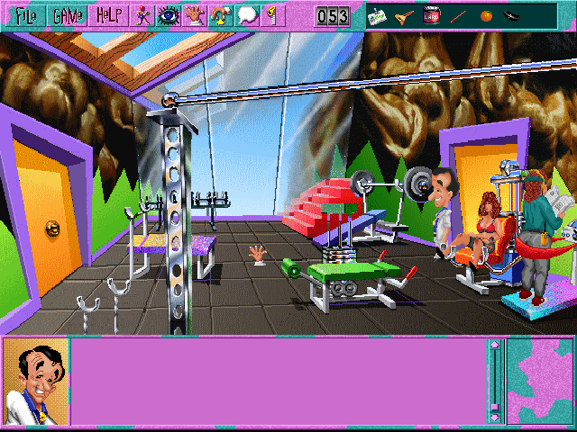 Leisure Suit Larry 6: Shape Up or Slip Out! Windows 3.x Here's the gym... (CD-ROM version)