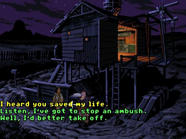 Full Throttle Windows Talking to the reporter girl that saved your life
