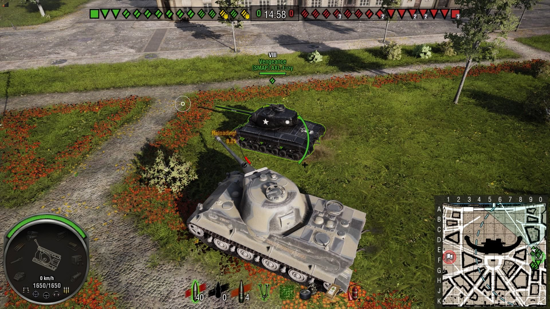 World of Tanks: Vengeance T25 Loaded PlayStation 4 Next to an allied Vengeance tank in my German tier viii premium tank