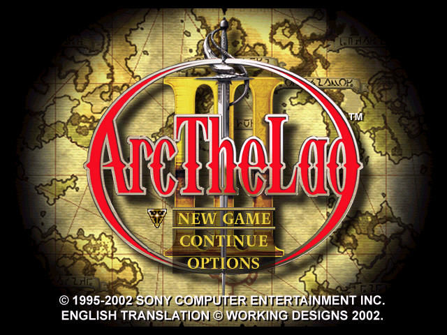 Arc the Lad III PlayStation Title screen