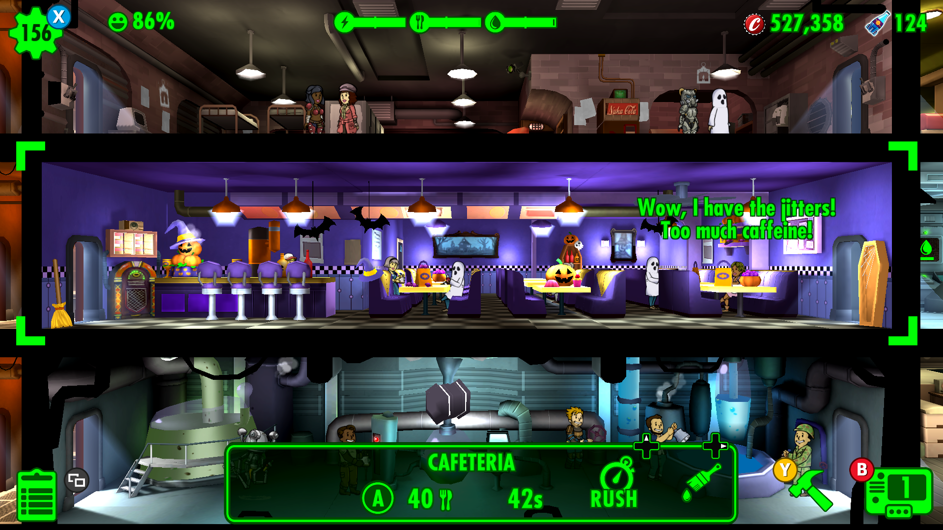 fallout shelter xbox one our halloween themed cafeteria