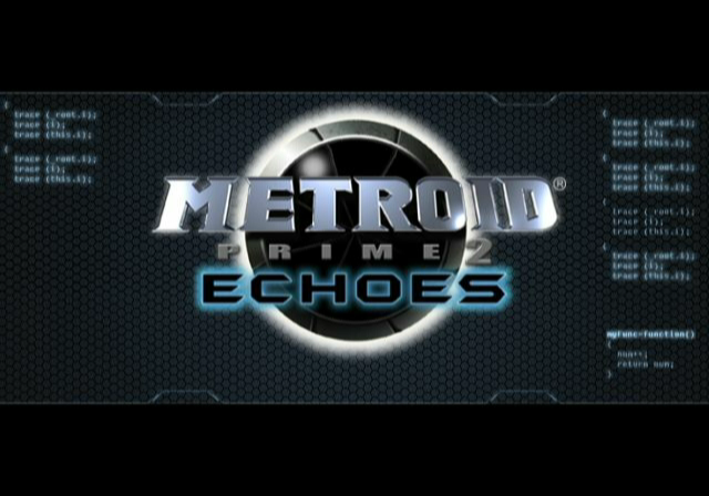 Metroid Prime 2: Echoes GameCube Title screen