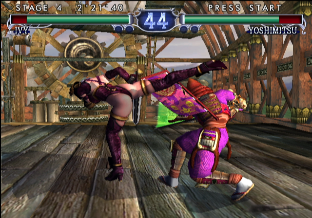 SoulCalibur II GameCube My opponent successfully ducks...