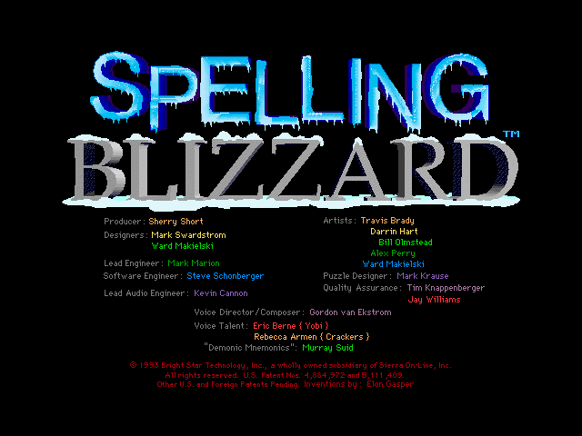 spelling blizzard screenshots for windows 3 x mobygames