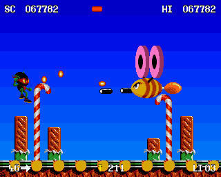 Zool Amiga Sweet World Boss - The Hum-bugger