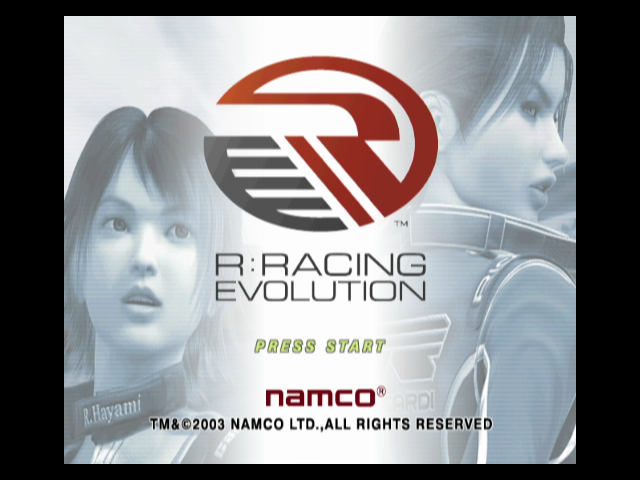 R:Racing Evolution GameCube Title screen