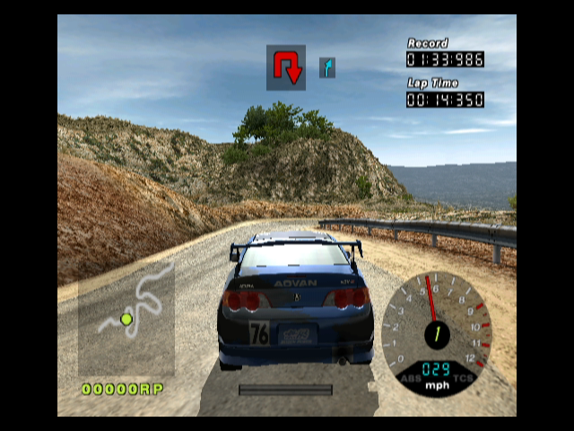 R:Racing Evolution GameCube Race through the training track as fast as possible