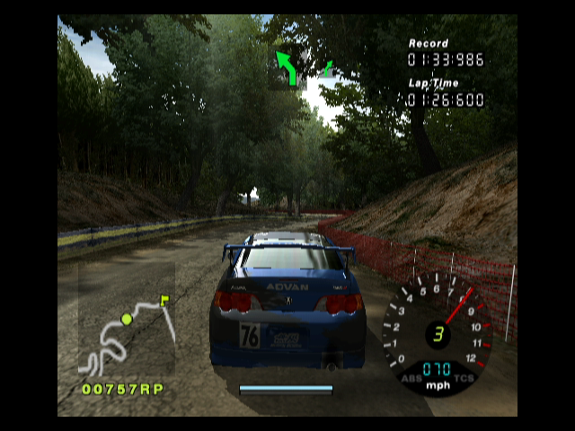 R:Racing Evolution GameCube Driving through the woods
