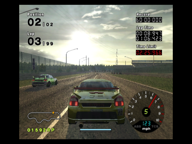 R:Racing Evolution GameCube You need to overtake your opponent in this training race