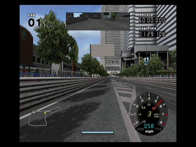 R:Racing Evolution GameCube Racing through downtown...