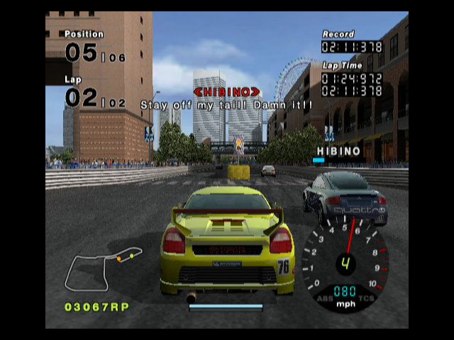 R:Racing Evolution GameCube Careful, don't crash into the median!