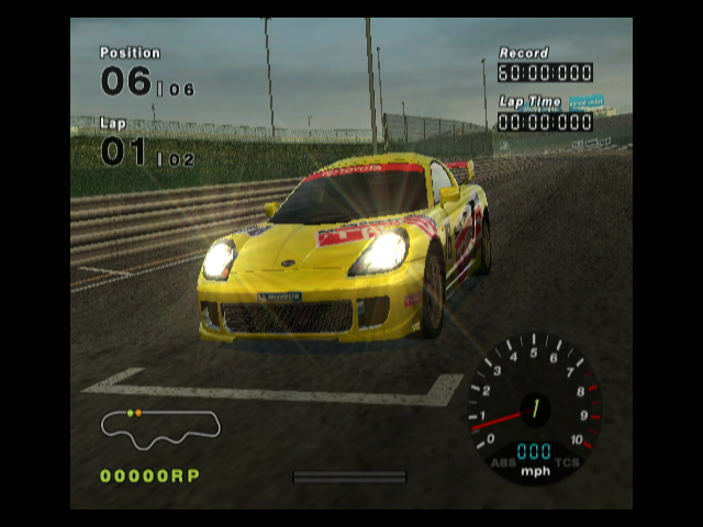 R:Racing Evolution GameCube Your car just before starting a race
