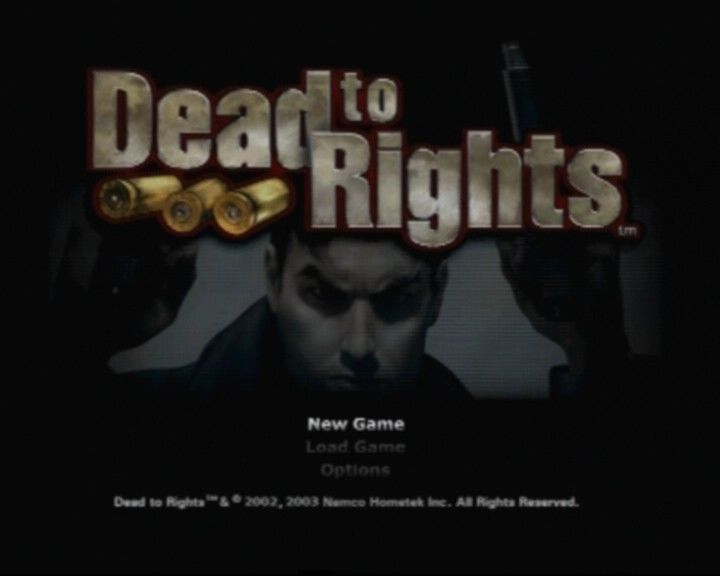 Dead to Rights PlayStation 2 Main Menu