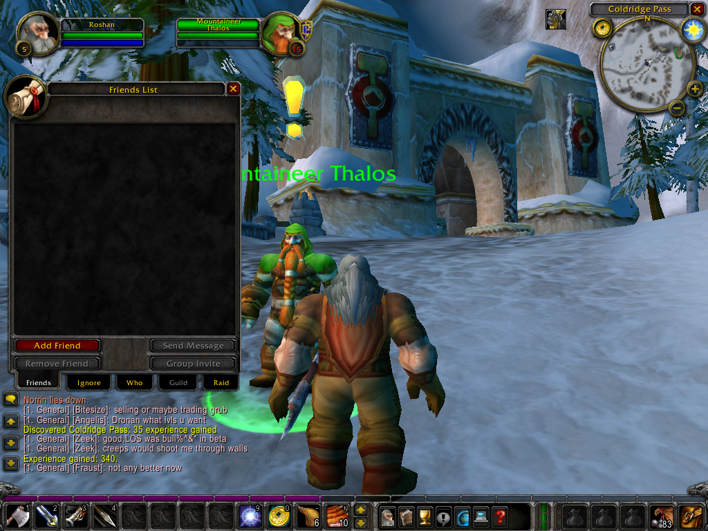 World of Warcraft Windows Use your Social screen to add friends, ignore people, access guild information and raid information, and see who is nearby