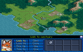 Inherit the Earth: Quest for the Orb DOS The main travel map