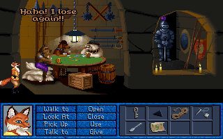Inherit the Earth: Quest for the Orb DOS I just knew a scene like this had to be in this game!
