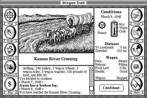 The Oregon Trail Screenshots for Macintosh - MobyGames