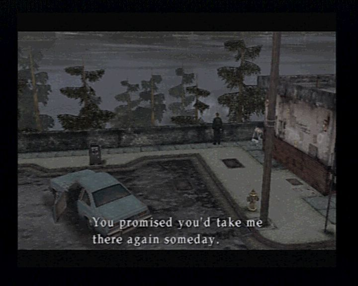 Silent Hill 2 PlayStation 2 The game sets you in the right mood as soon as you read Mary's letter.