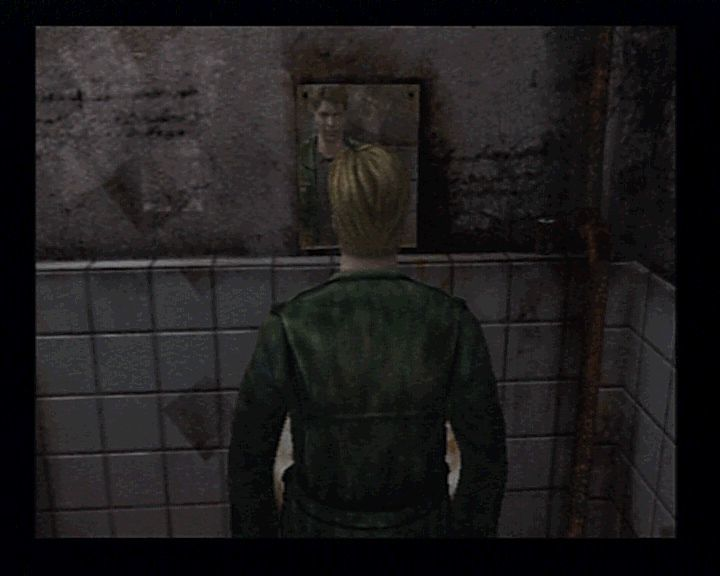 Silent Hill 2 PlayStation 2 Real time effects such as lighting, mirroring, fog, and such are really helping increase the ambient.