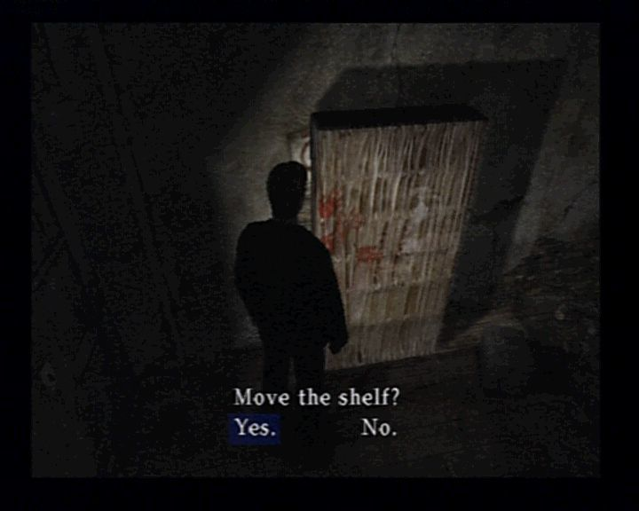 Silent Hill 2 PlayStation 2 Some actions will automatically be triggered when you're searching close enough.