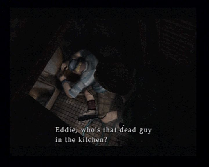 Silent Hill 2 PlayStation 2 Meeting Eddie, not under best circumstances, though.