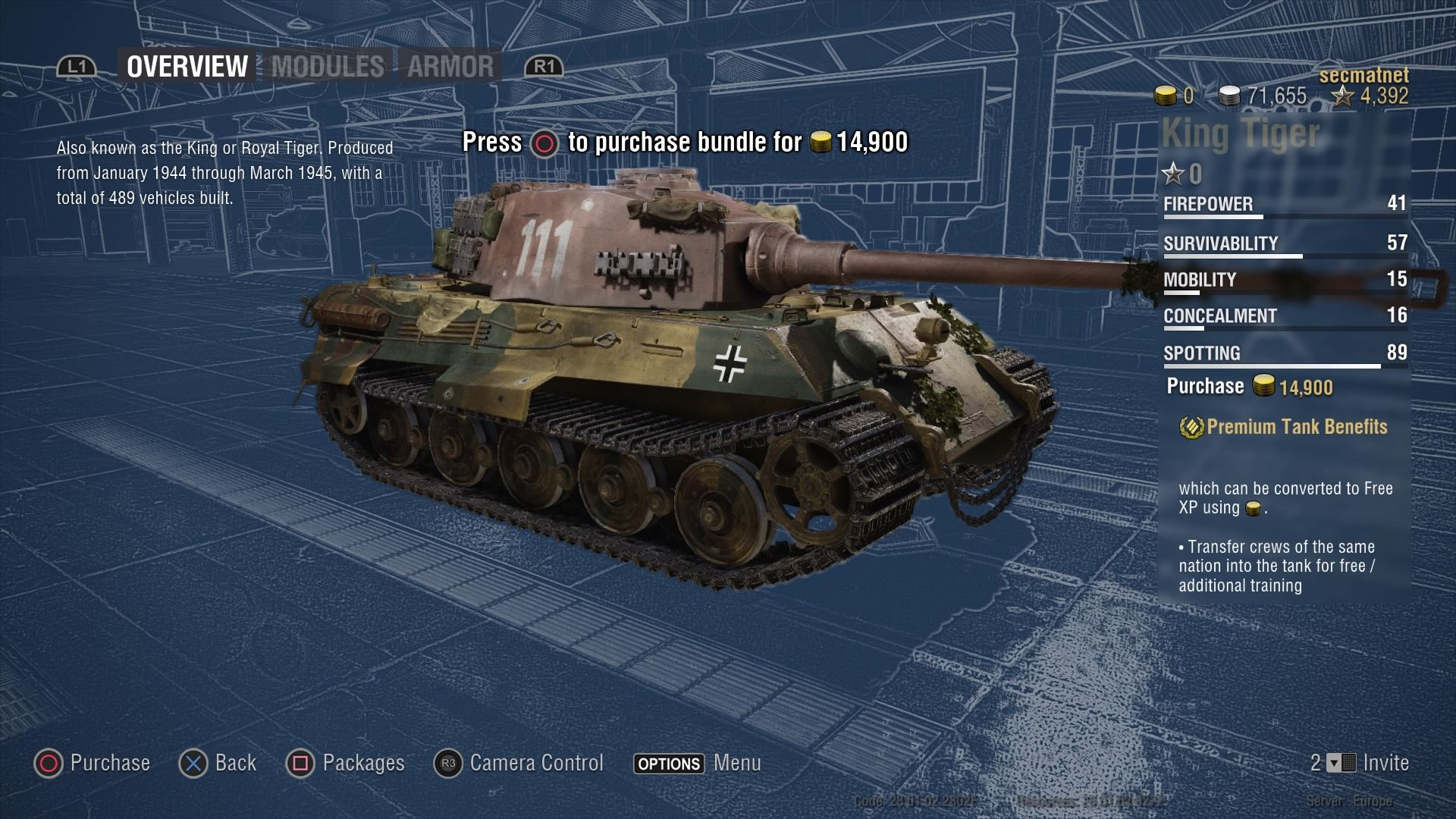 World Of Tanks German King Tiger Ii Ultimate Screenshots For Playstation 4 Mobygames