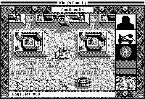 King's Bounty Macintosh Starting location (B&W)
