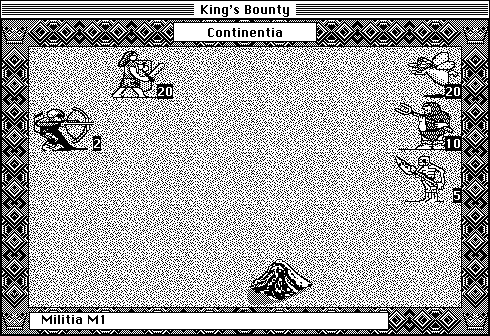 King's Bounty Macintosh A battle phase (B&W)