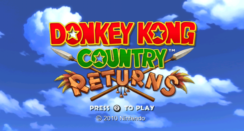 Donkey Kong Country Returns Wii Title screen