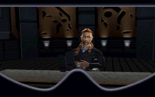 Cyberia PlayStation Talking to Devlin on a vid-con