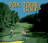 PGA Tour Golf Game Gear Title screen