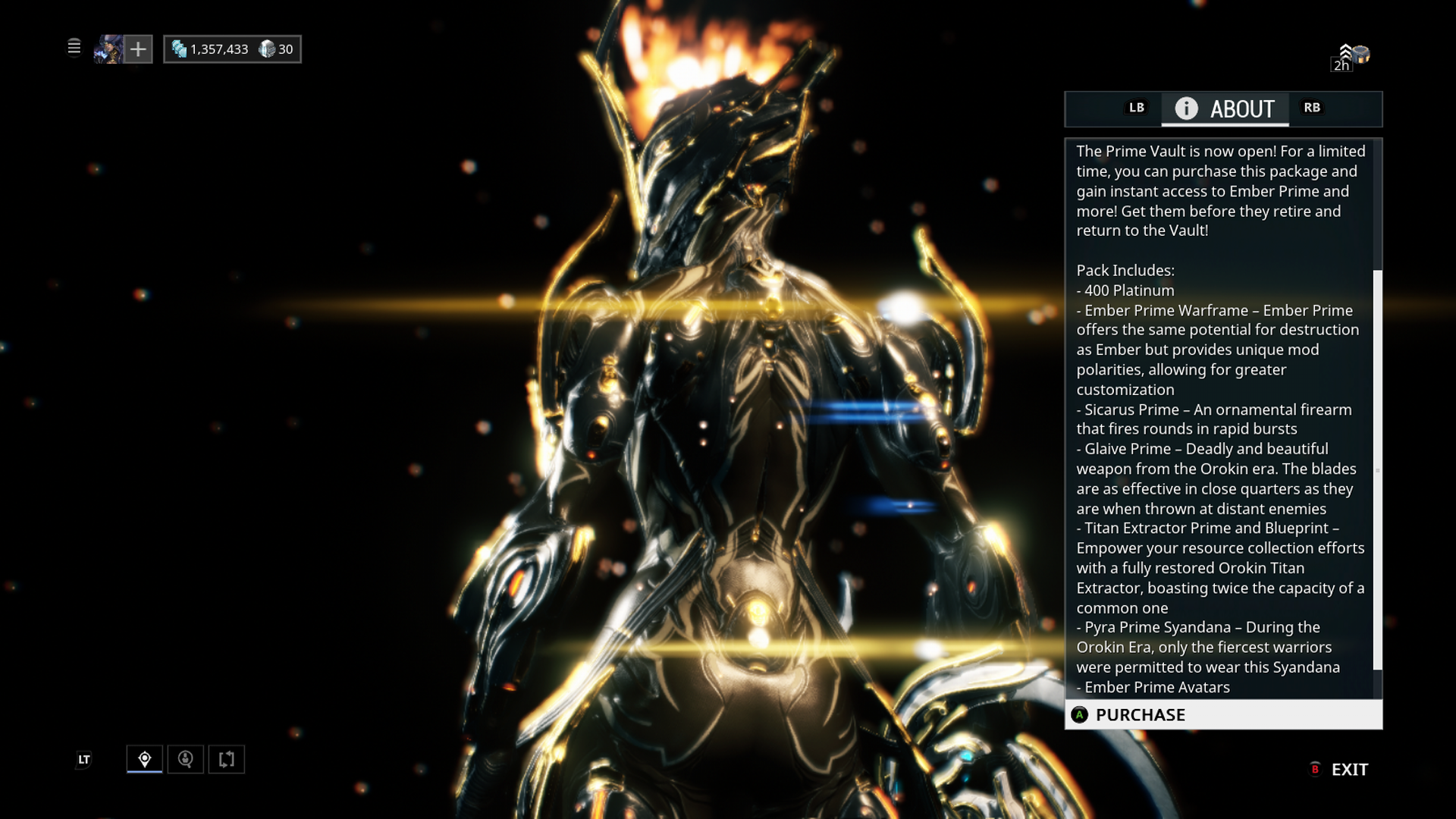 Warframe: Prime Vault - Fire Prime Pack Screenshots for Xbox