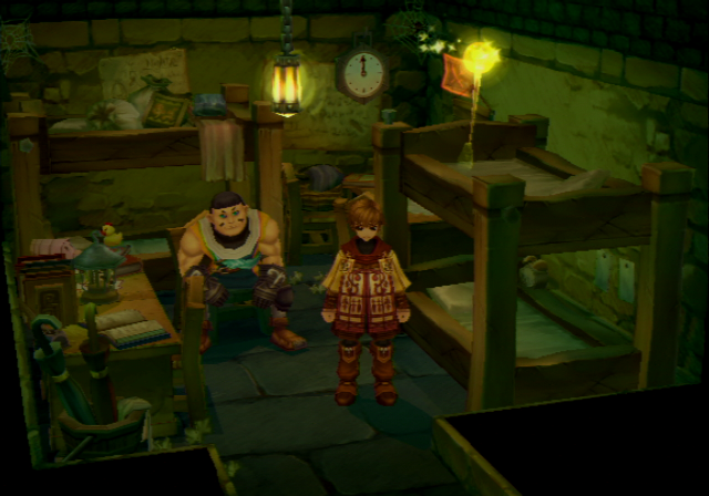 Radiata Stories PlayStation 2 Your first room in the Radiata Castle.