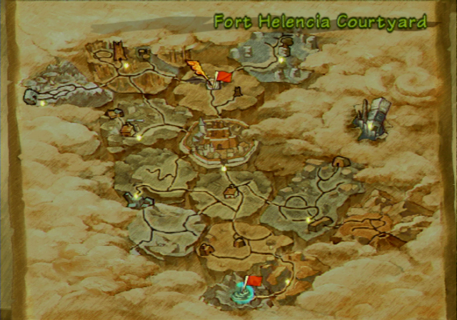 Radiata Stories PlayStation 2 The world map.