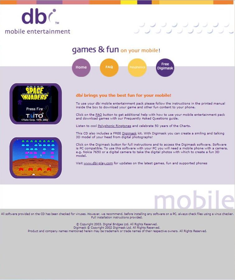 Free games for windows mobile 2003