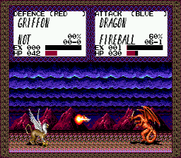 Master of Monsters Genesis Griffon vs. Dragon