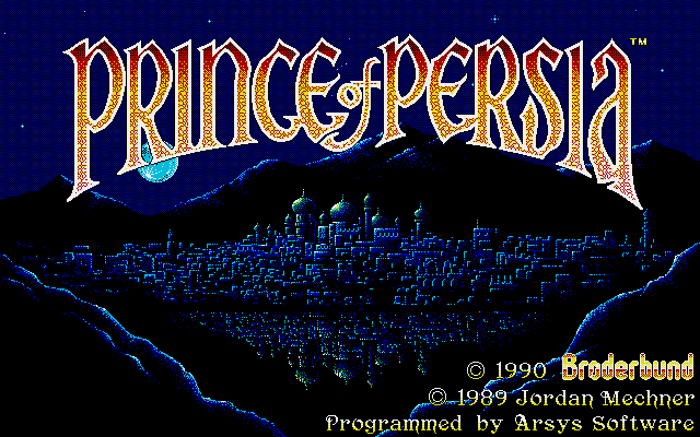 Prince of Persia PC-98 Title screen