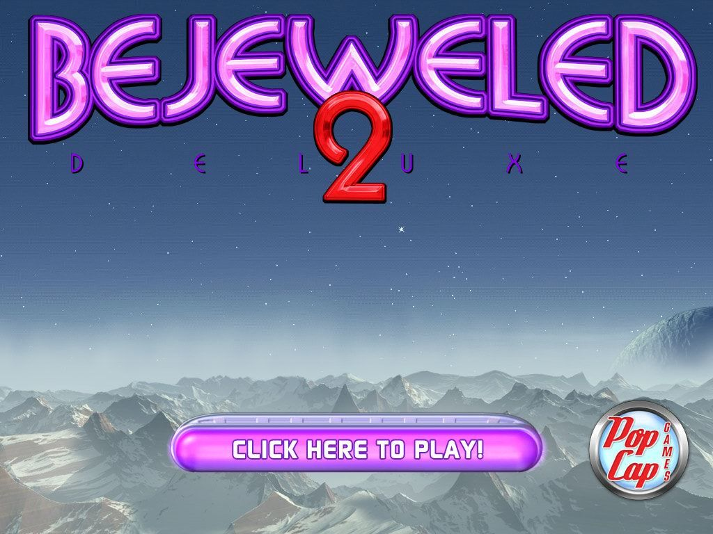 Bejeweled 2: Deluxe Windows Title screen