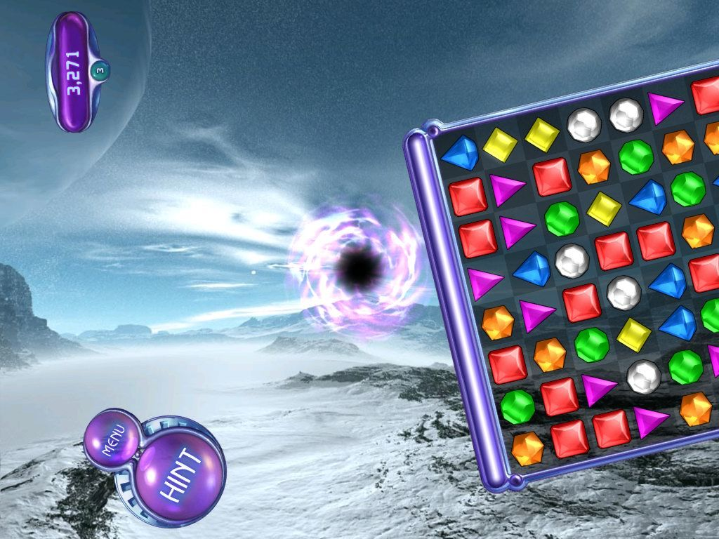 Bejeweled 2: Deluxe Windows Level complete, prepare for warp!