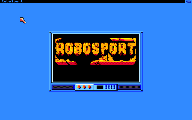 RoboSport Amiga Title Screen (High-Res mode)