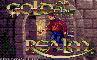 Gold of the Realm Amiga Title screen.