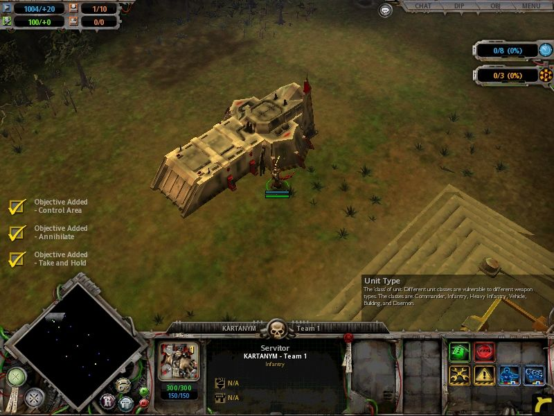 Warhammer 40,000: Dawn of War Windows The Space Marines begin as such in each game