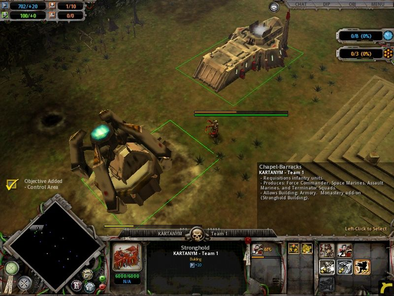 Warhammer 40,000: Dawn of War Windows It's important to build what you can quickly at the start