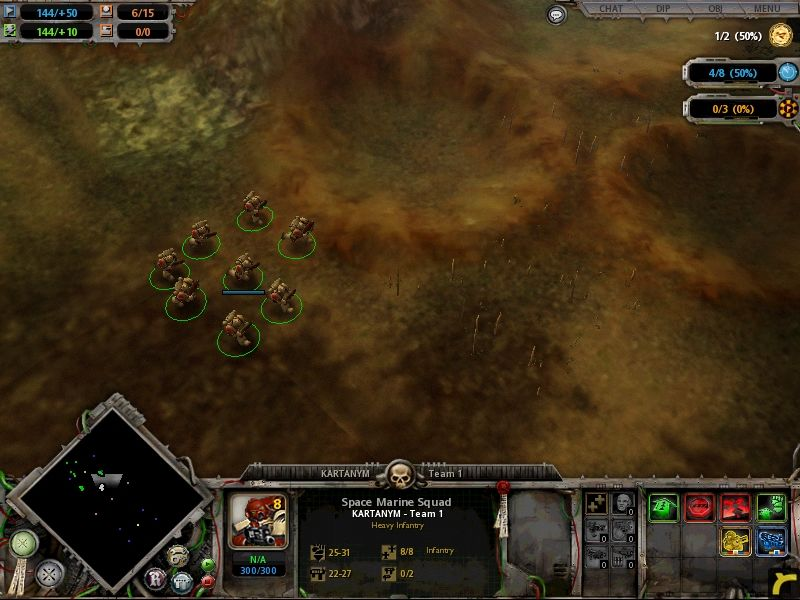 Warhammer 40,000: Dawn of War Windows no need to click and drag in this game. each squad is highlighted in one click
