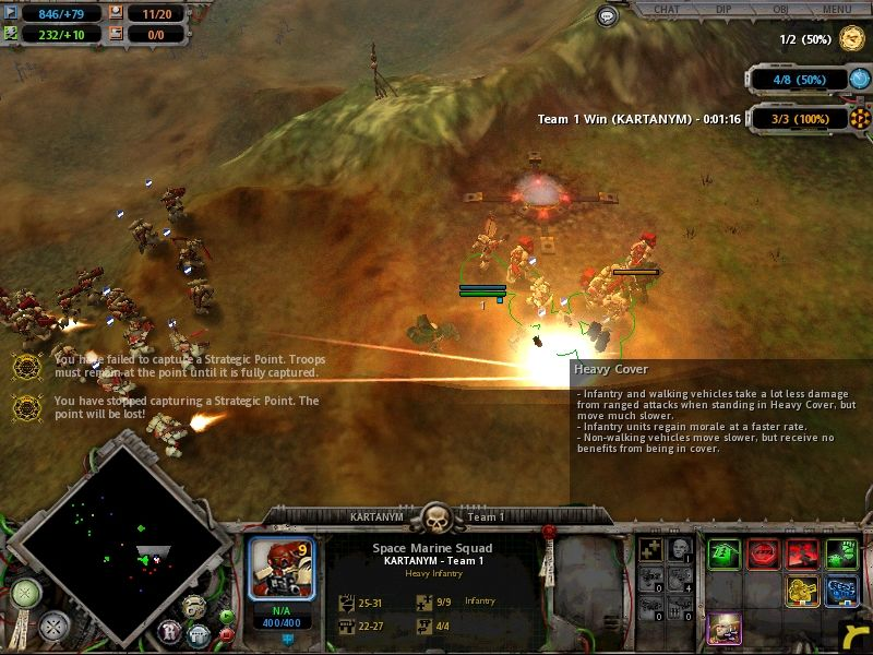 Warhammer 40,000: Dawn of War Windows the bigger the explosion the better, as they say