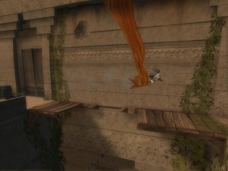 Prince of Persia: The Sands of Time Windows Running on wall