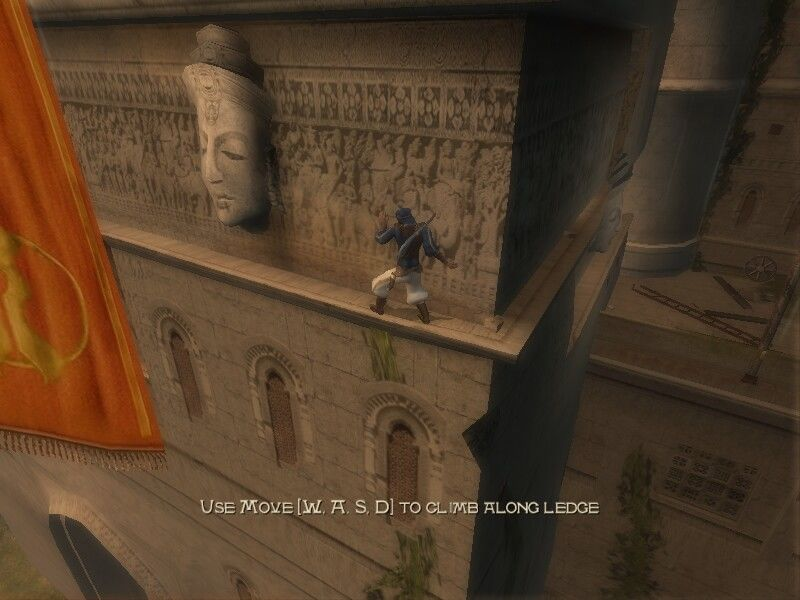 Prince of Persia: The Sands of Time Windows Now he is climbing along the ledge