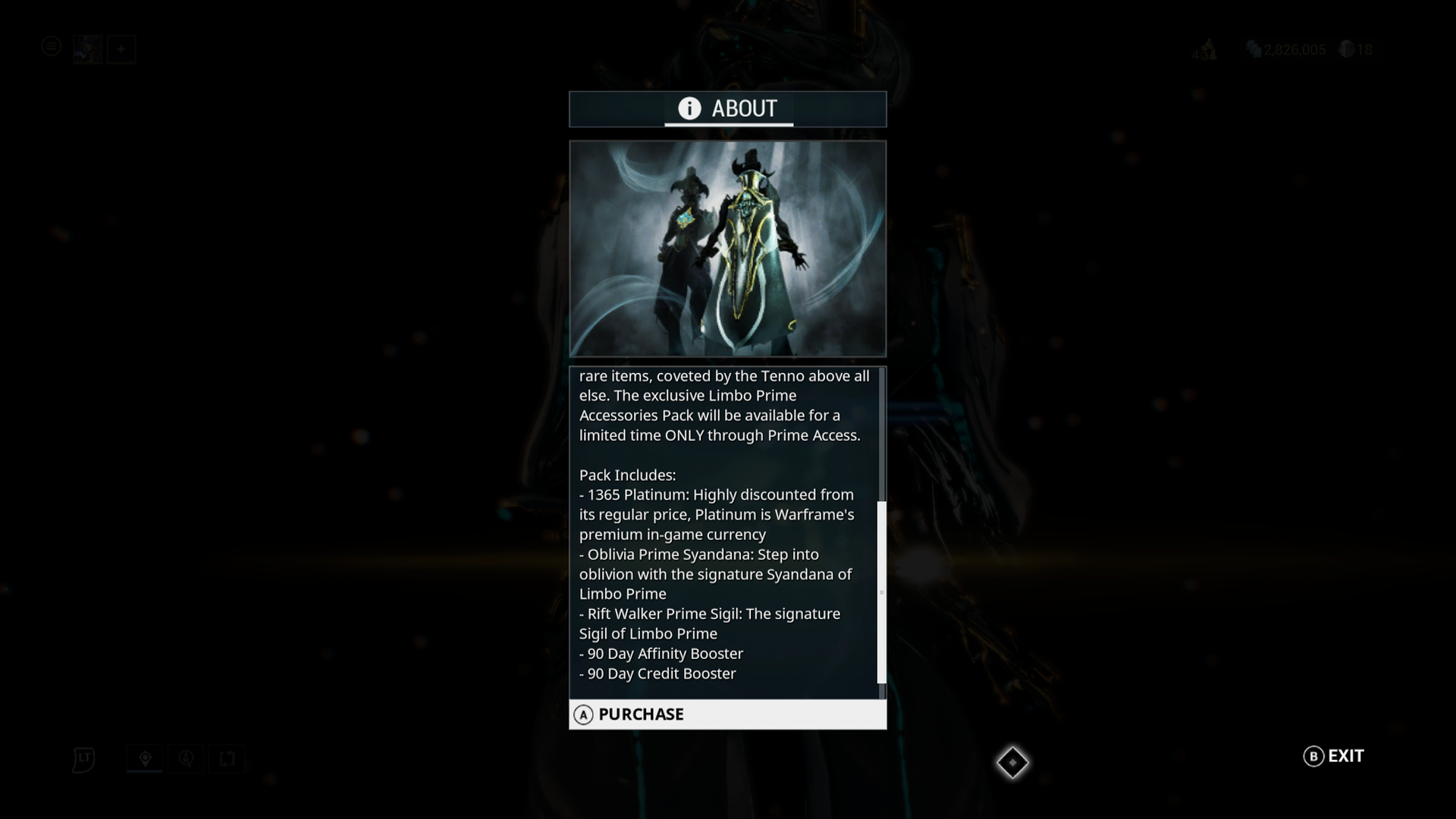 Warframe: Limbo Prime Access - Accessories Pack Screenshots