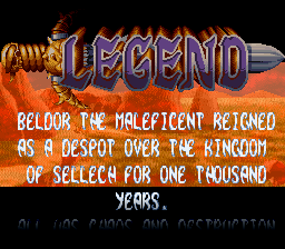 Legend  SNES Intro